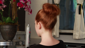 Fuss Hair Studio - top knot bun