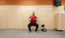 Common Squat Mistake – Stability Ball Squat